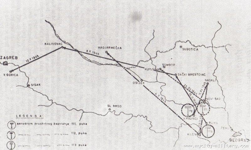 Stvaranje i razvoj vazduhoplovstva NOVJ (1942 - 1945) 18848_94563613_aerodromi%20baziranja%20-%20sremski%20front