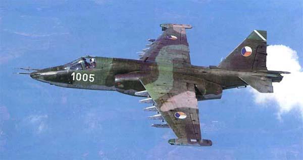 Chechoslowak  Su-25 in standard camouflage scheme
